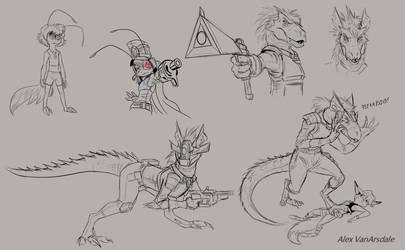 Vilo and Shiv sketches