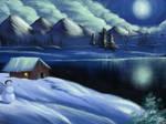 Winter Night by KazeSkyfox