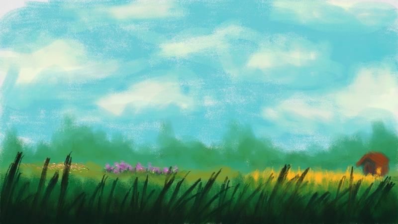 Summer Field by KazeSkyfox
