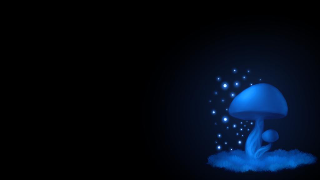 Blue Mushroom by KazeSkyfox