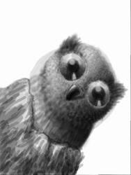 Owl in Stump by KazeSkyfox