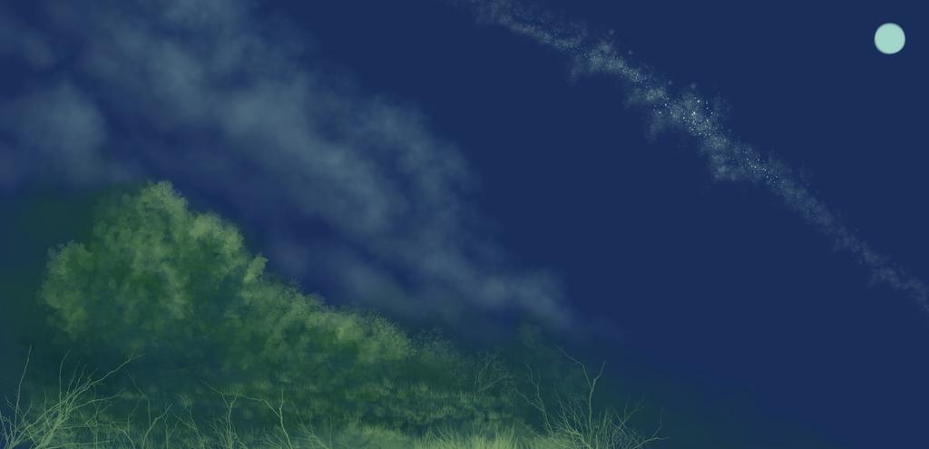 Night sketch by KazeSkyfox