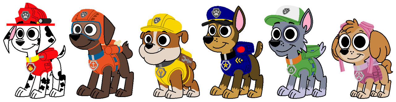 Paw Patrol: The Six Pups (in 101DS style)