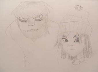 Murdoc and Noodle (Gorillaz)