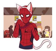 Nekomimi Spider-man by Kaindycandy