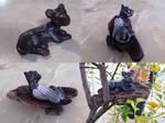Panther cub sculpture proces