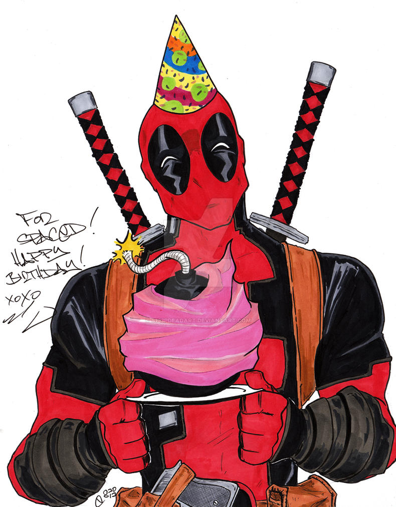 Happy birthday from deadpool by s133pdeadart on deviantart happy birthday from deadpool by s133pdeadart bookmarktalkfo Choice Image