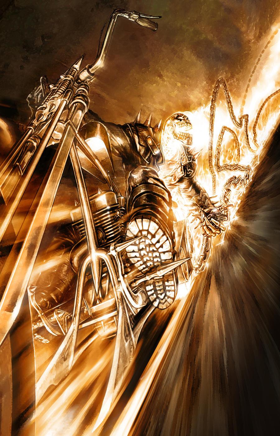 Photoshop Manipulation (Ghost Rider) - Speed Art - YouTube  |Ghost Rider Digital Painting Photoshop