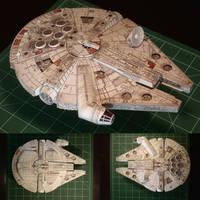 Paper Millennium Falcon 4 by PatrickThornton