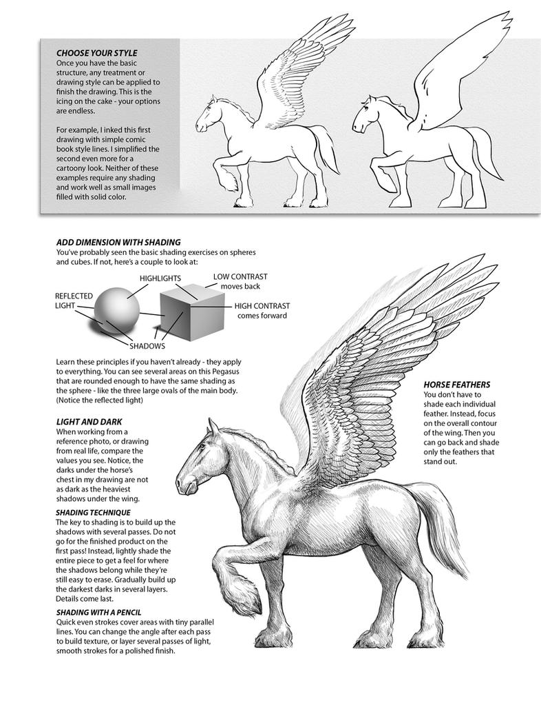 How To Draw Pegasus 4 By Patrickthornton On Deviantart How To Draw A Horse  With Wings