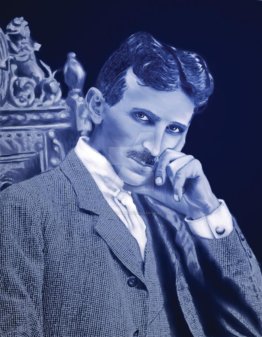Nicola Tesla Renewed by Anya-Hildebrandt