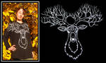 Tree Stag t-shirt by MirachRavaia