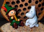 Moomin and Snufkin by MirachRavaia