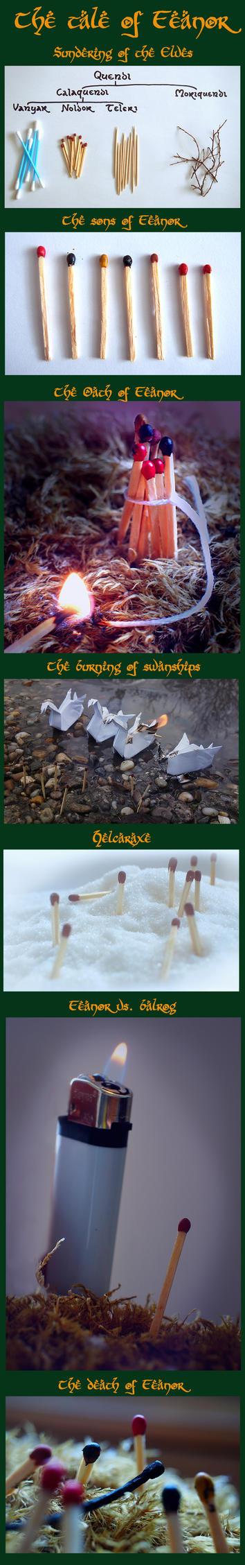 Mini Silmarillion: The tale of Feanor by MirachRavaia