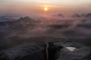 The day when sun burst through rocks by MirachRavaia