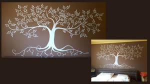 Brown tree mural by MirachRavaia