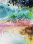 Distant mountains by MirachRavaia