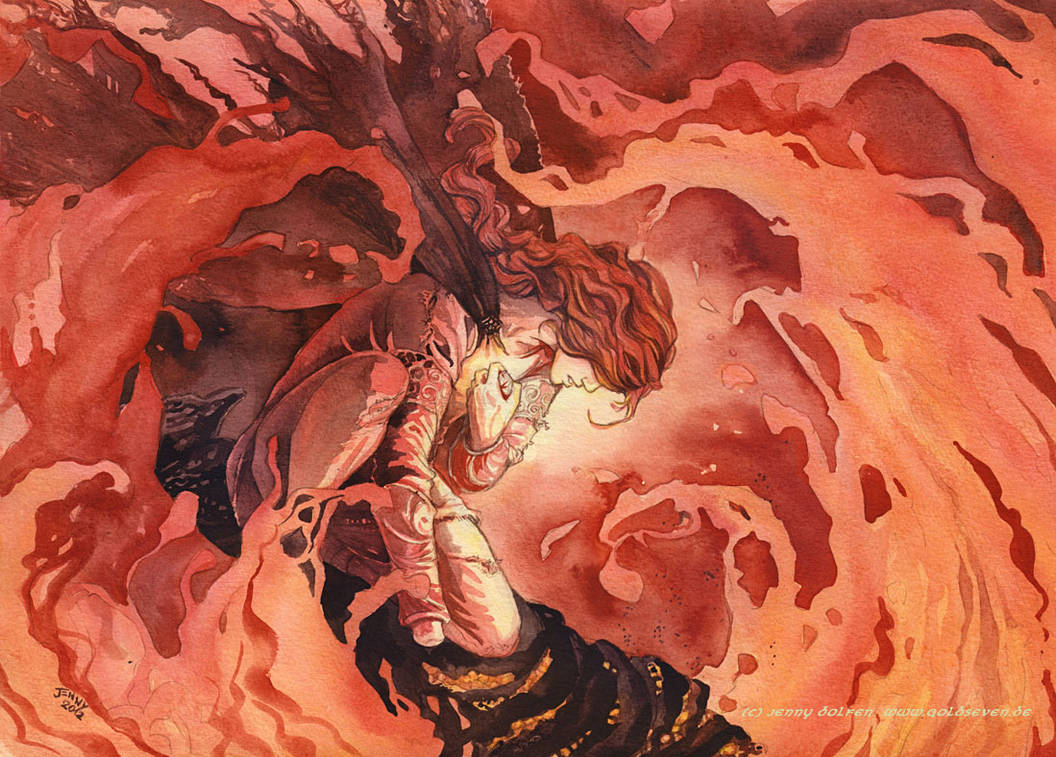 It ends in flame by Jenny Dolfen by MirachRavaia