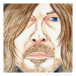 Daryl Dixon - The Walking Dead - Watercolor by thewisecarrot
