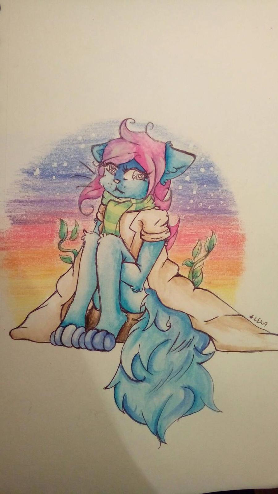 sad alice by AliceBlueCat