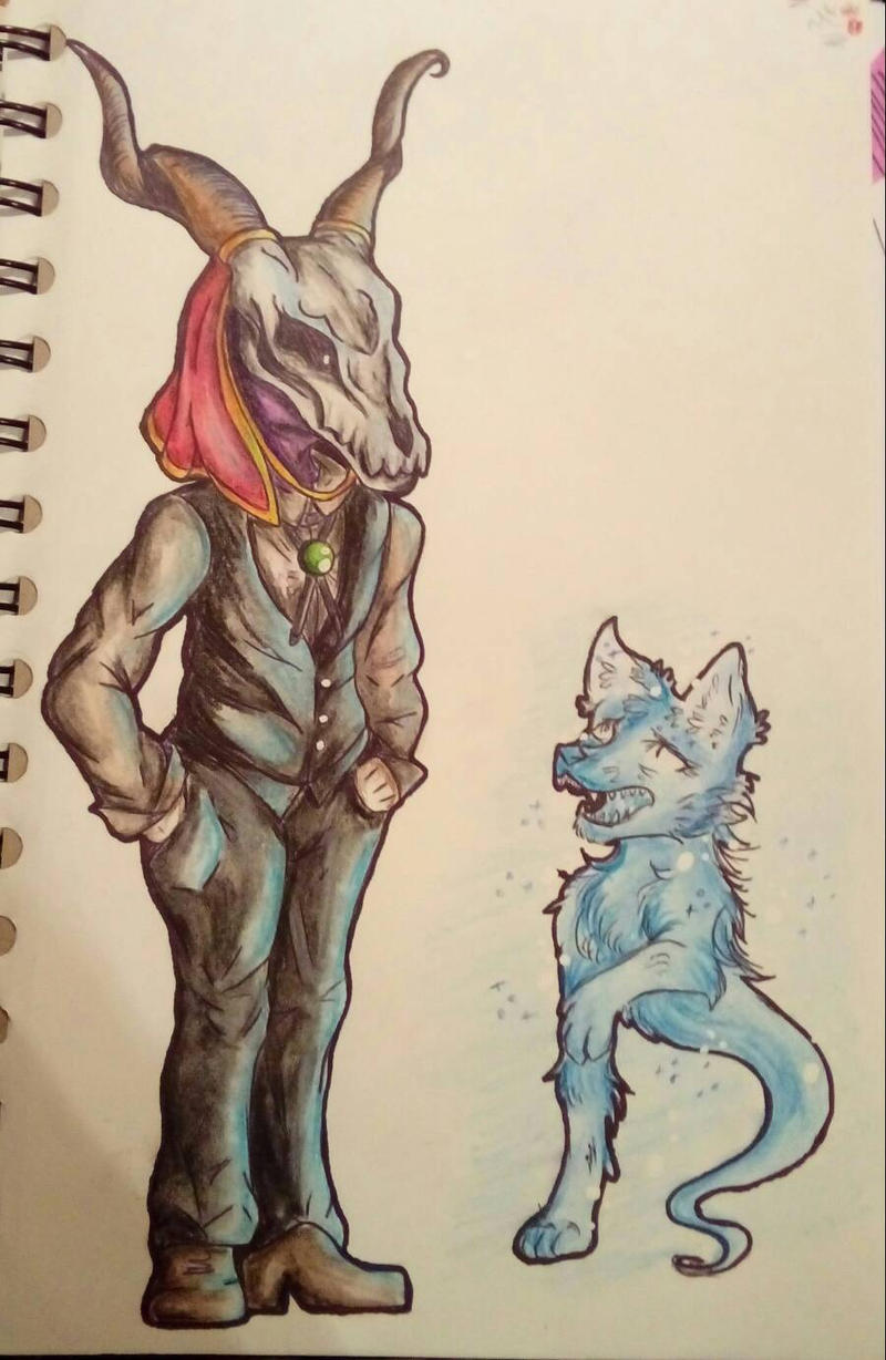 Elias and little ghost by AliceBlueCat