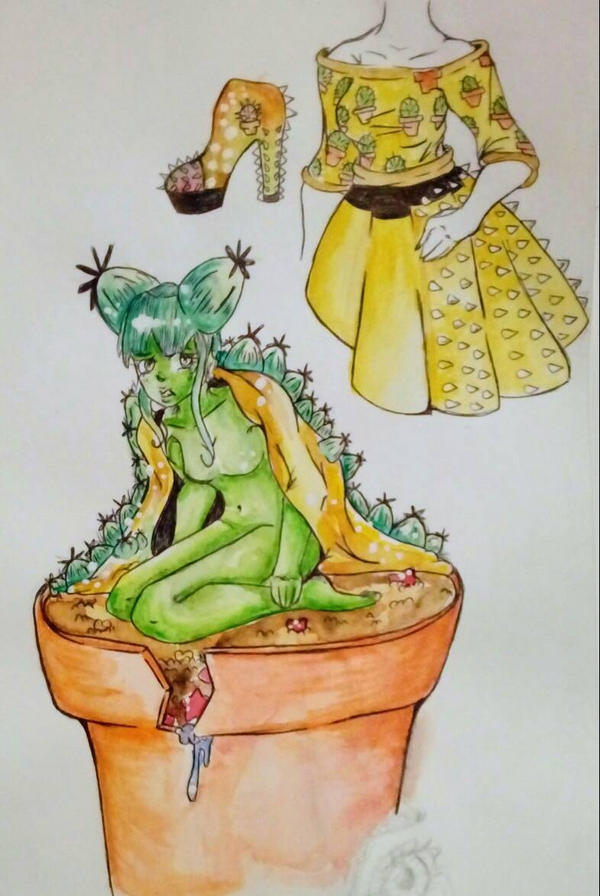 my lovely cactus by AliceBlueCat