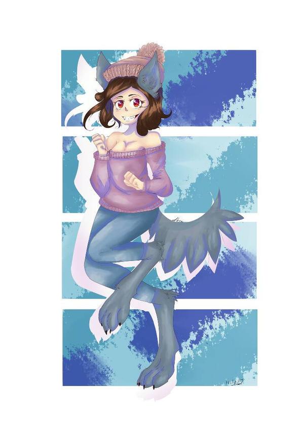 omg a cute wolf by AliceBlueCat