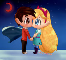 starco kiss by mere-chan00