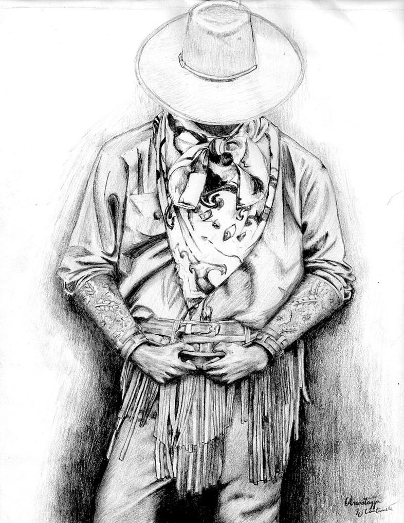 Cowboy sketch drawings - photo#1