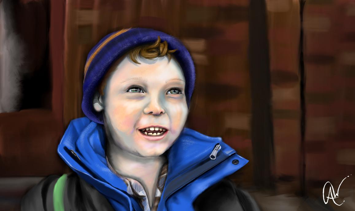 Smiling Blue Boy by KuraiTazja