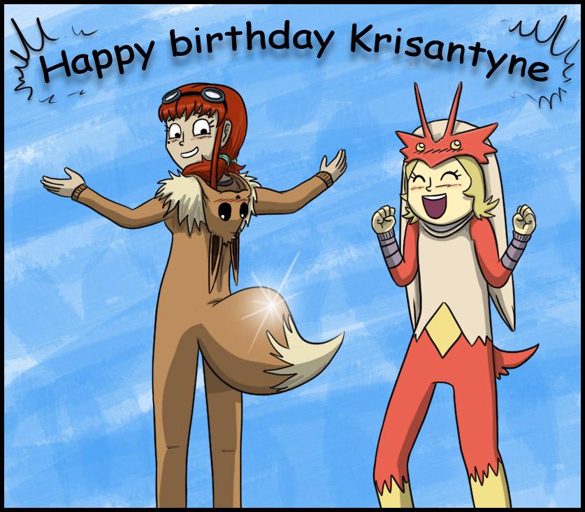 Happy birthday Krisantyne by Alex-namn