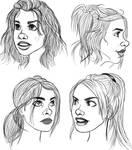 Rose Tyler Hair Studies