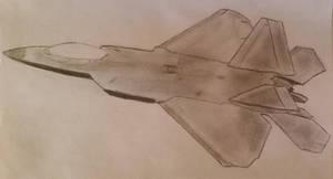 F-22 jet sketch