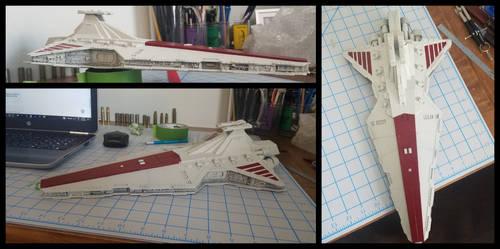 3D printed Venator Star Destroyer by BlazeFirethorn