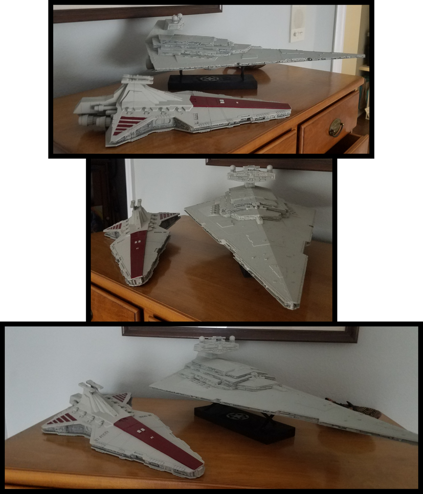 Venator and Imperial II Star Destroyers (to scale) by BlazeFirethorn