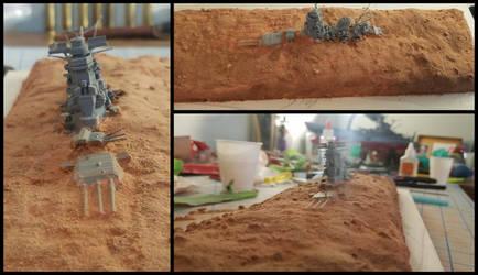 Sunken Senkan WIP (now with sand) by BlazeFirethorn
