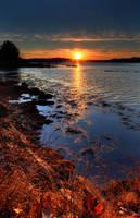 December Sunset Back River by EvaMcDermott