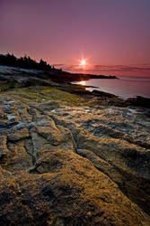 Low Tide Sunrise Ocean Point by EvaMcDermott