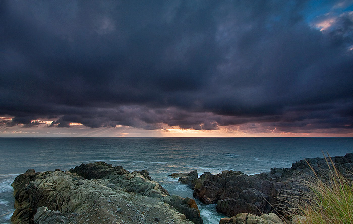 Stormy Sunrise Louisbourg NS by EvaMcDermott
