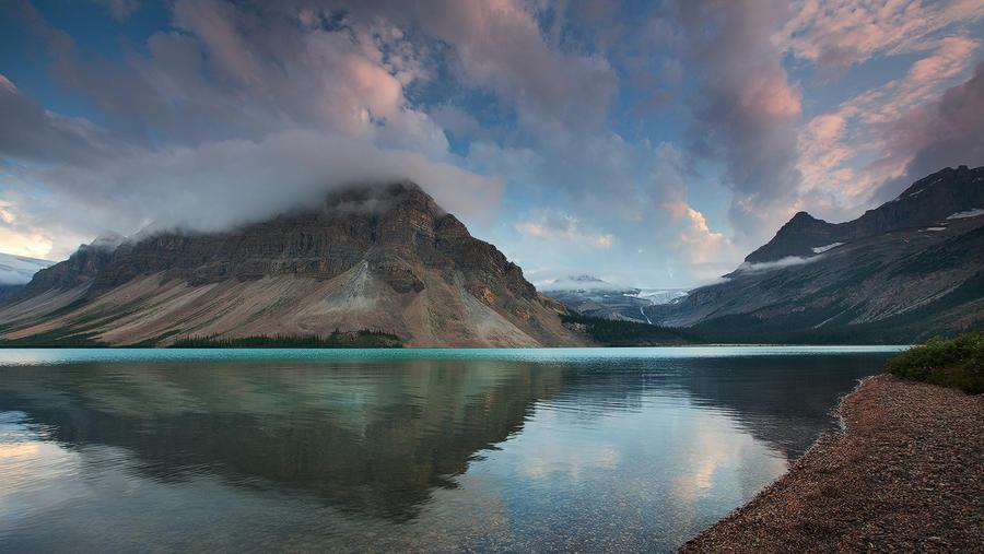 Bow Lake Sunset by EvaMcDermott