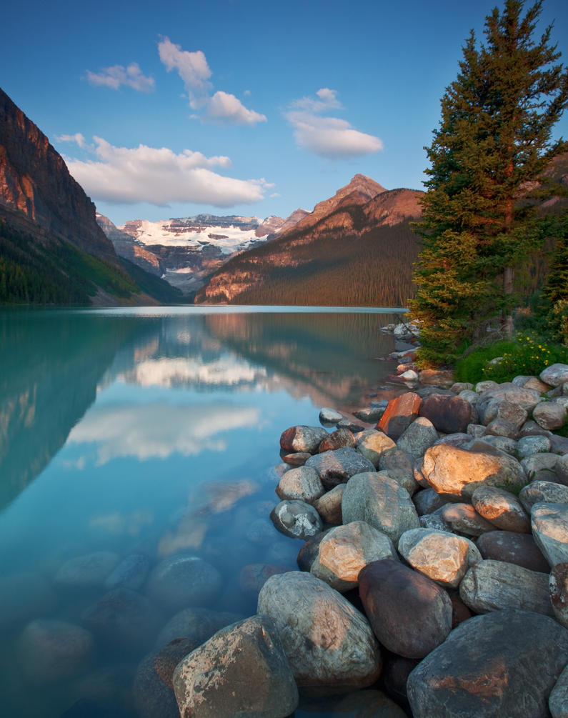 Lake Louise in Morning Light by EvaMcDermott