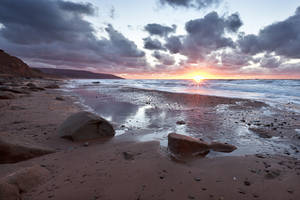 Inverness Beach Sunset by EvaMcDermott