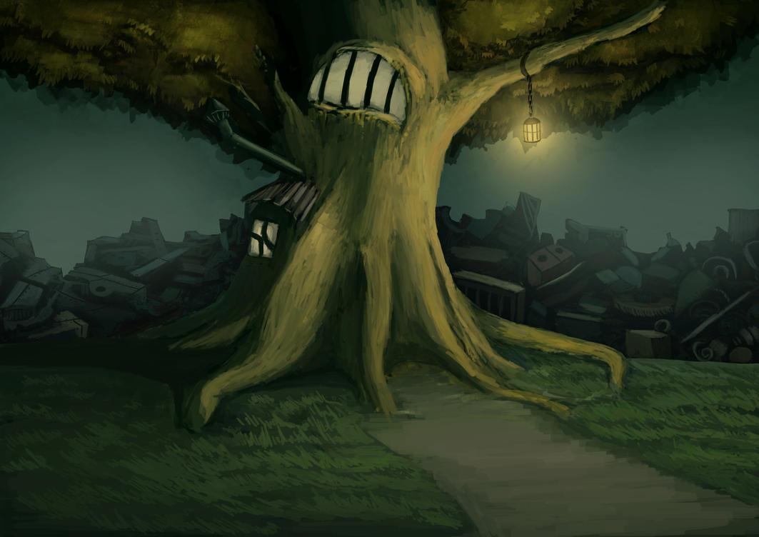 Tree House by MaroonIllustrator