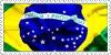 Brazil Stamp by SwarovskiHeart