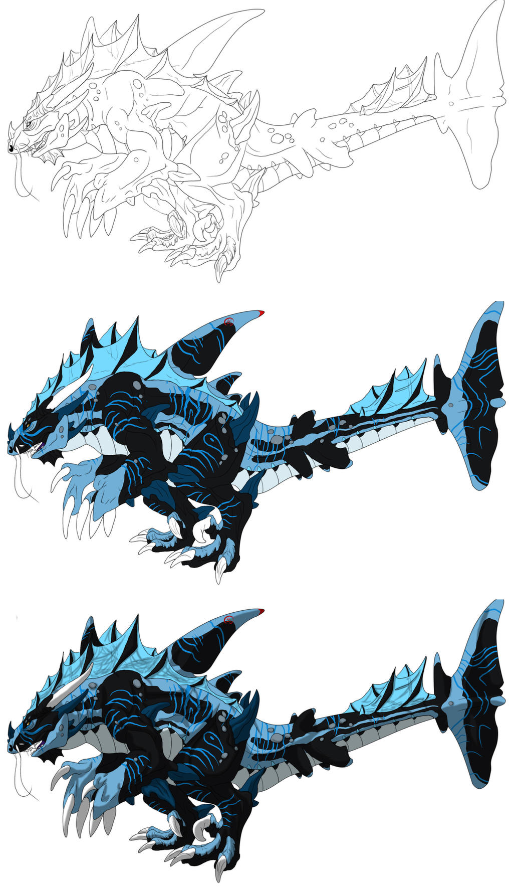 Shark Dragon Steps by GermanDark
