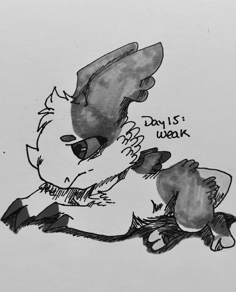 Inktober Day 15: Weak by kopaisfluffy