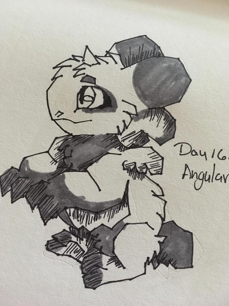 Inktober Day 16: Angular by kopaisfluffy
