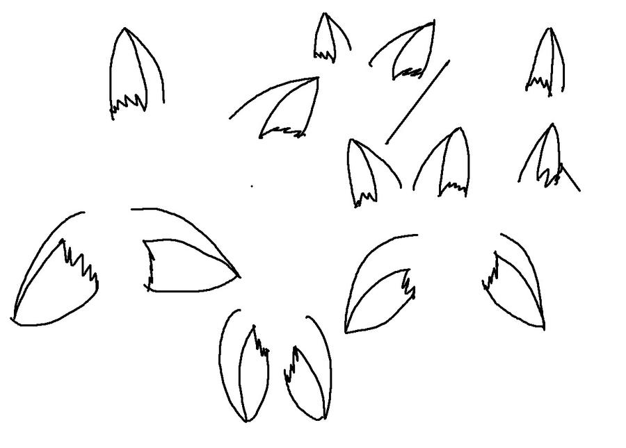 How to draw wolf ears - photo#20