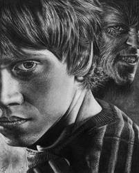 Ron Weasley and Greyback by WickedIllusionArt