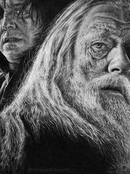 Albus Dumbledore and Snape by WickedIllusionArt